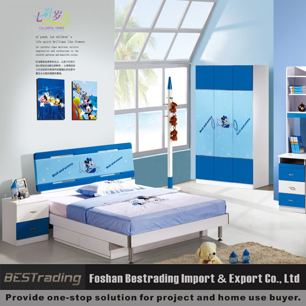 mickey mouse mdf slaapkamer set goedkope kinderen dubbel bed ...
