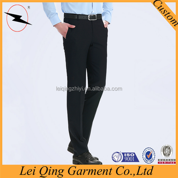 39a19f412f 2015 black business casual non iron pants matching shirt and pants men  wholesale