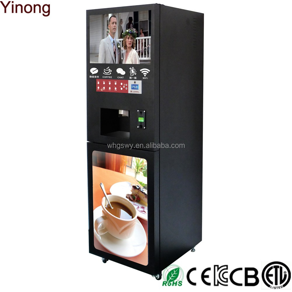 Coin and notes operated coffee machine vender hot sale in Malaysia