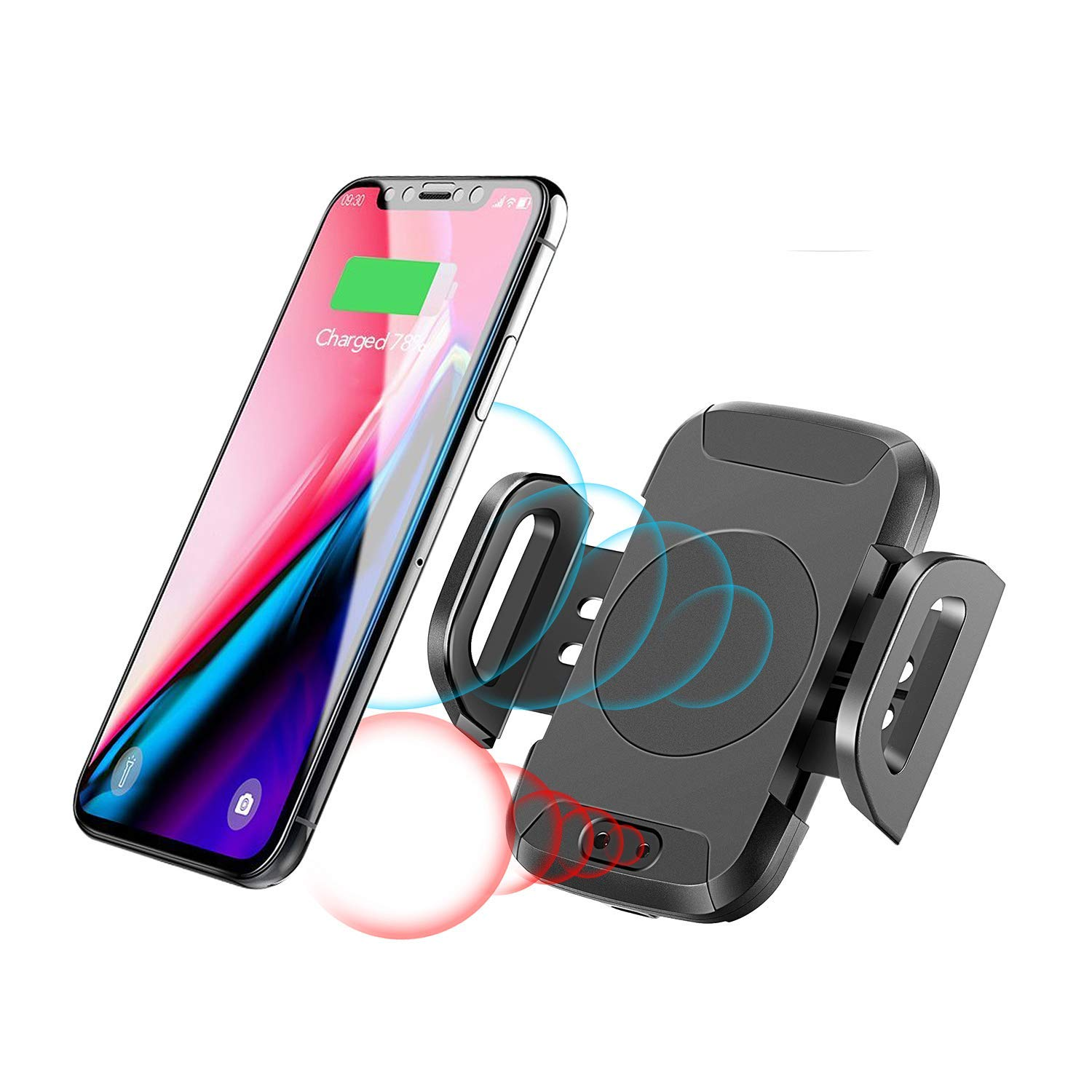 Automatic Wireless Charger Mount, SUPOLOGY Infrared Induction Air Vent Phone Holder with QI Wireless Charger for Car,Pick-up Truck,Heavy Truck,SUV, Best Car Charger Phone Holder for Uber Lyft Driver