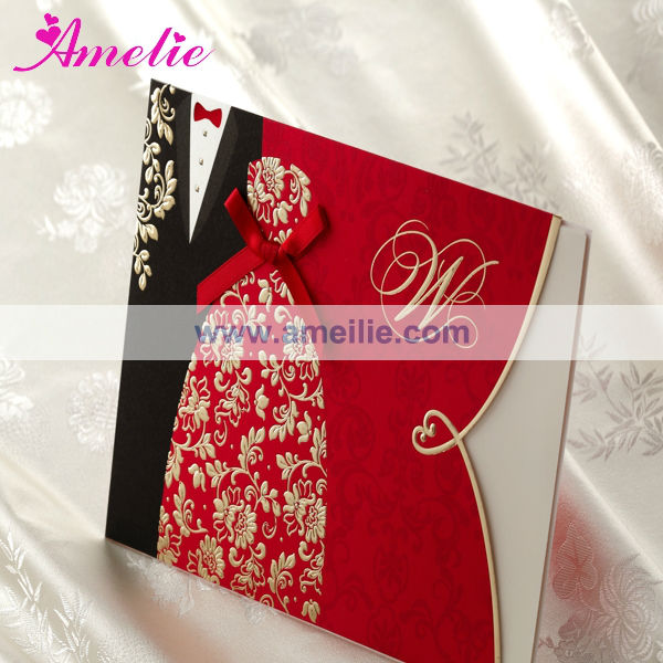 ACW1051 Bride and bridegroom design kerala wedding cards design