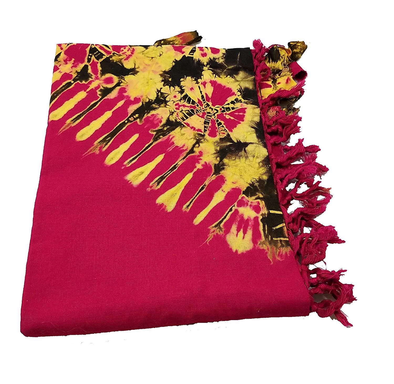 73b9bbba358ea Get Quotations · Red Gold and Black Masai Maasai Tie Dye Sarong Shawl Leso  Shuka