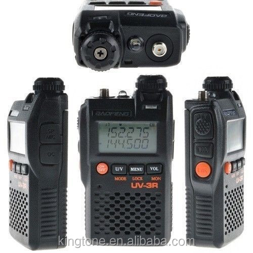 Long Range Dual Band Baofeng UV-3R+ 3W Ham Two way Radio transceiver frequency transmitters