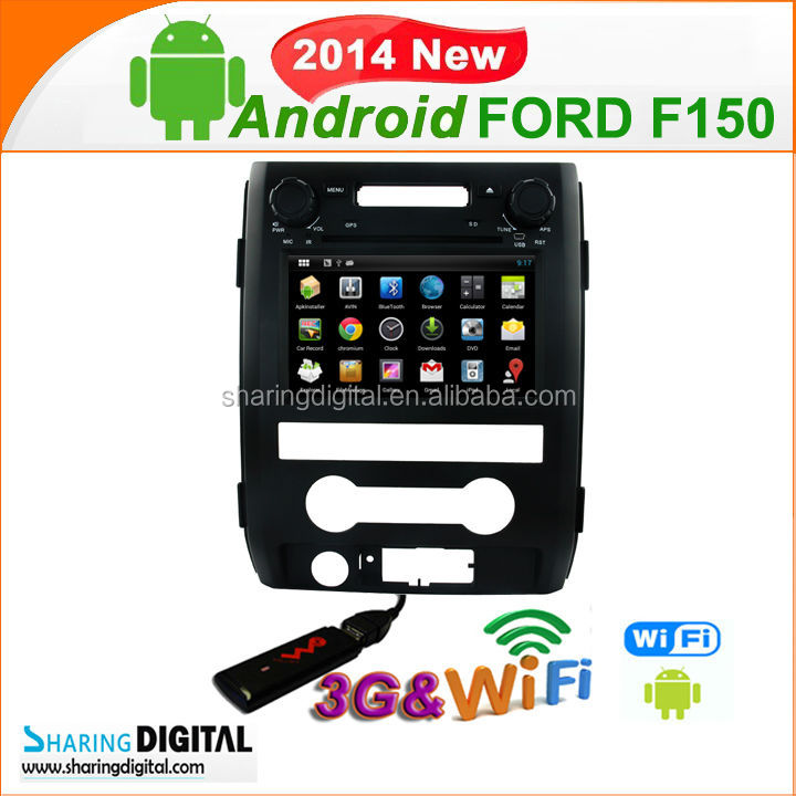 Pure Android 4.2 CAR DVD Support 3G Modem car gps for FORD F150 EXPLORER