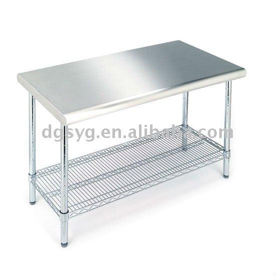 Acero Inoxidable 304 Despensa Mesa Para Cocina Y Sala Limpia - Buy ...