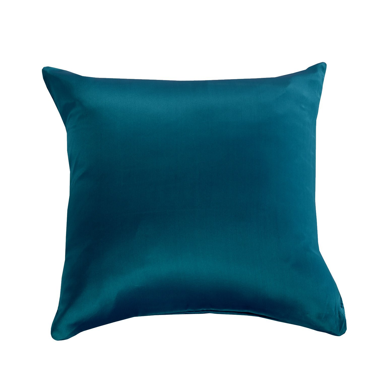 """Orose Silk Square Decorative Pillow Case Cushion Cover for Couch, Sofa, Bed, Throw Pillowcase 18""""x18"""" (18""""18"""", Peacock)"""