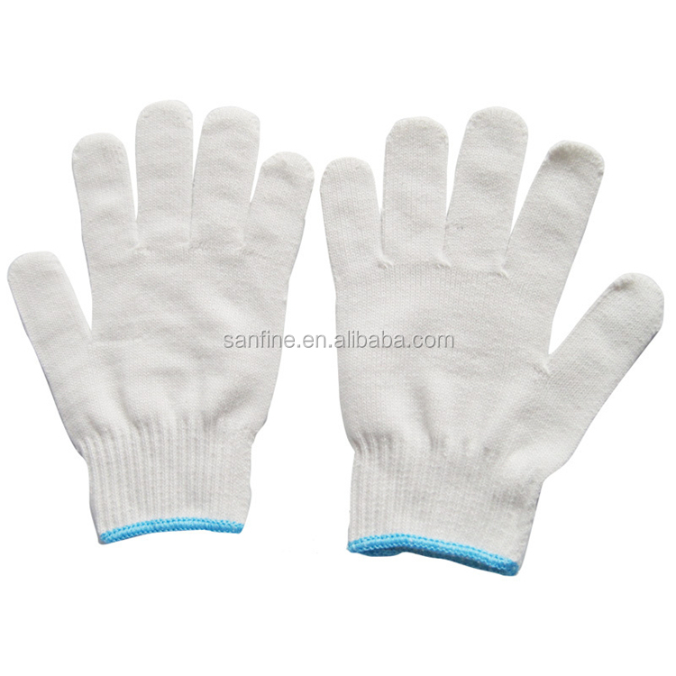 1 Dollor items Durable China white cotton knitting working gloves