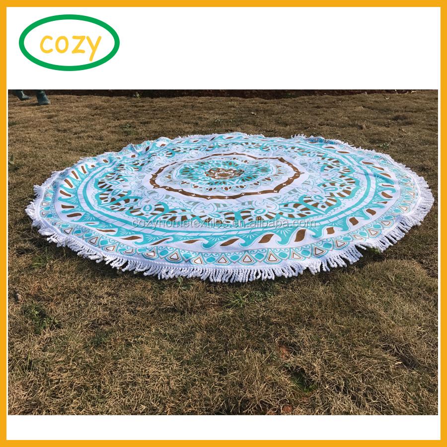 Mandala Tapestry Hippie tirar Redondo Grande Playa Esterilla para Yoga Manta Al Aire Libre de vacaciones