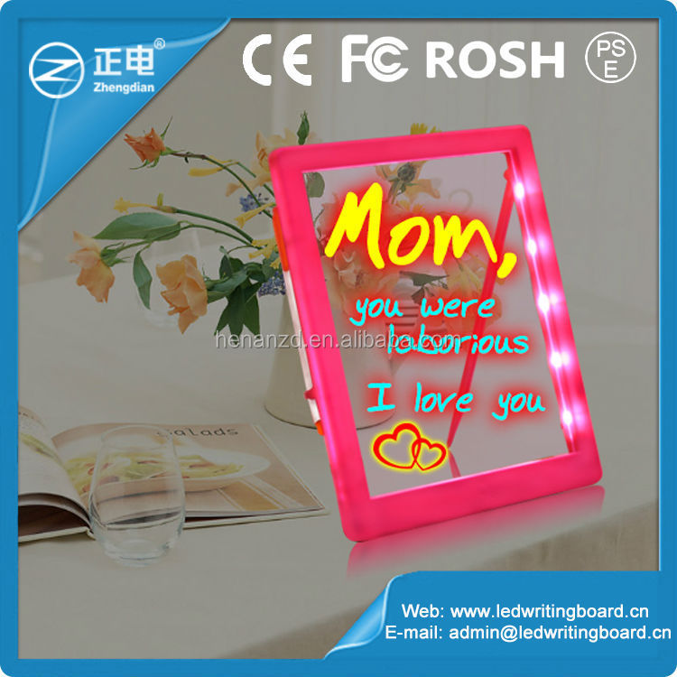educational toys kids drawing board boys ABS material 3528 light strip portable glow in the dark drawing board kids writing boar