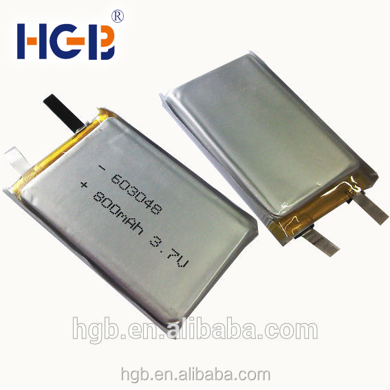 Lithium polymer Type battery cell HGB 603048 800mAh 3.7V rechargeable battery cell for UAV/RC/plant protection UAV/ Power Tool