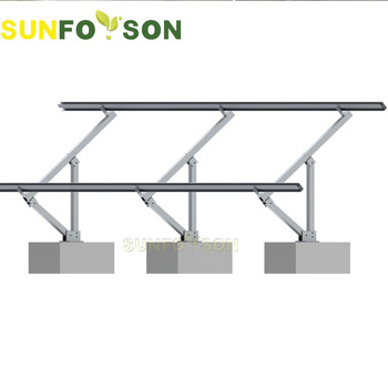 Adjustable Angle Flat Roof Pv Solar Panel Support