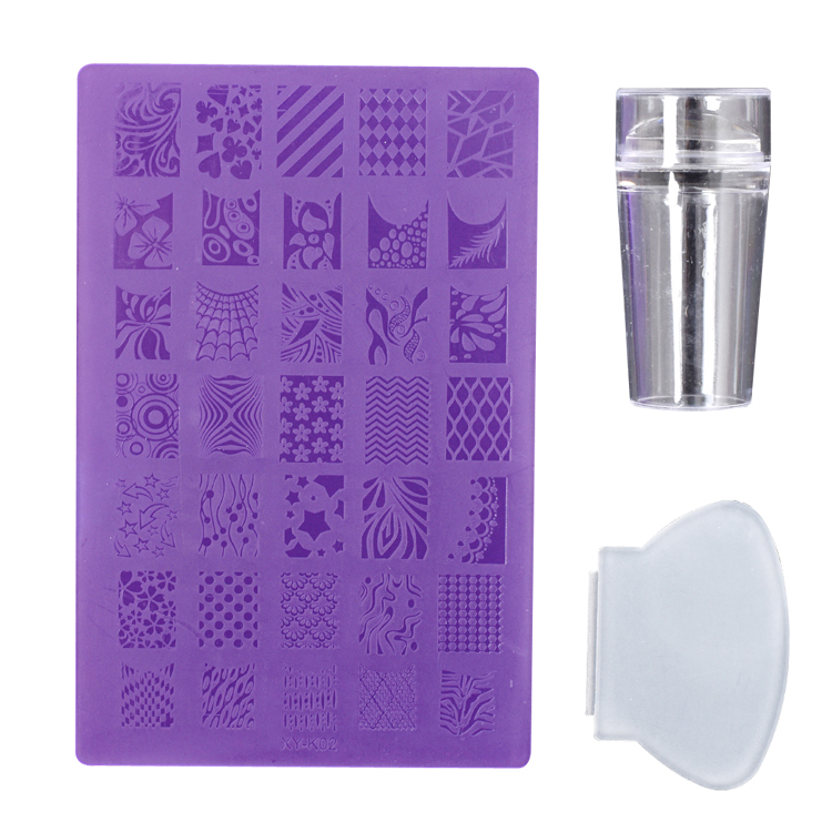 Promotional blister card customized logo print 35 patterns design DIY nail art stamp stamping plate