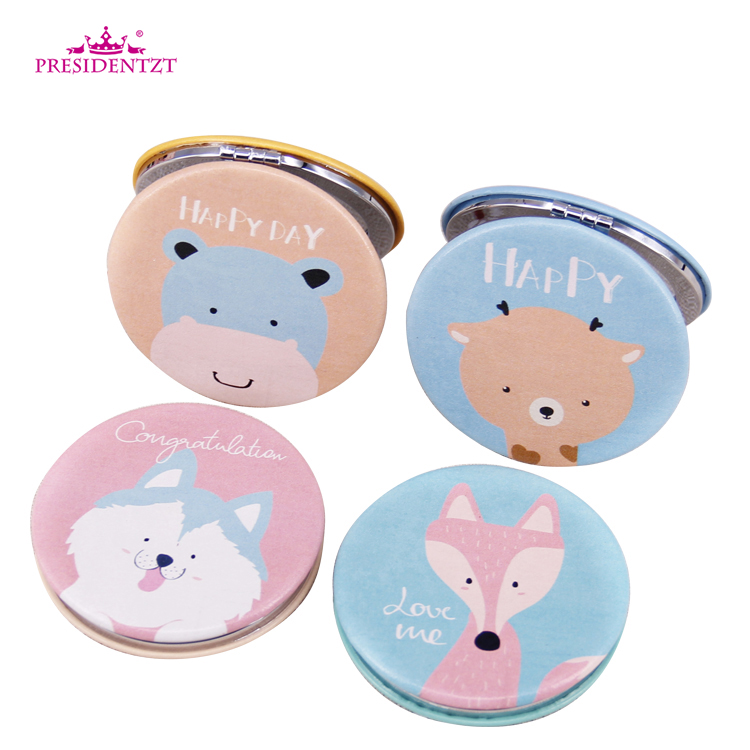 Wholesale Cute Cats Foldable Hand Held Cosmetic Mirror