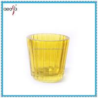 cheap yellow floating bulk glass votive tea light candle holders