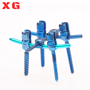 pedicle screw for spine orthopedic implants with instrument set