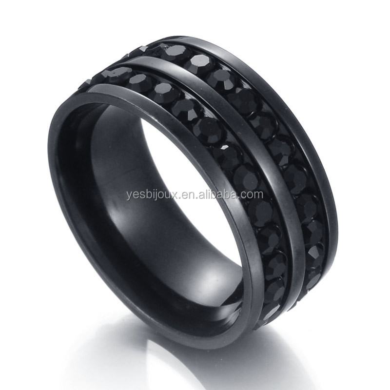 Black stainless steel ring tungsten carbide jewelry 2017 фото