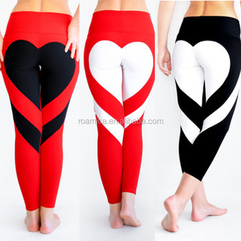 a813483e76be83 Custom Sexy Heart-shaped Print Butt Up Spandex Gym Yoga Athletic Pants  Leggings for Women