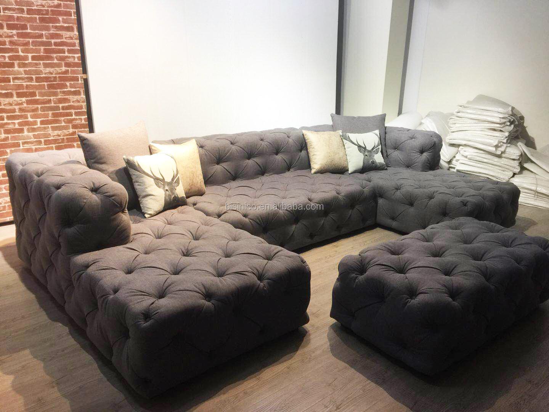 American Hot Sale Living Room U Shape Button Tufted
