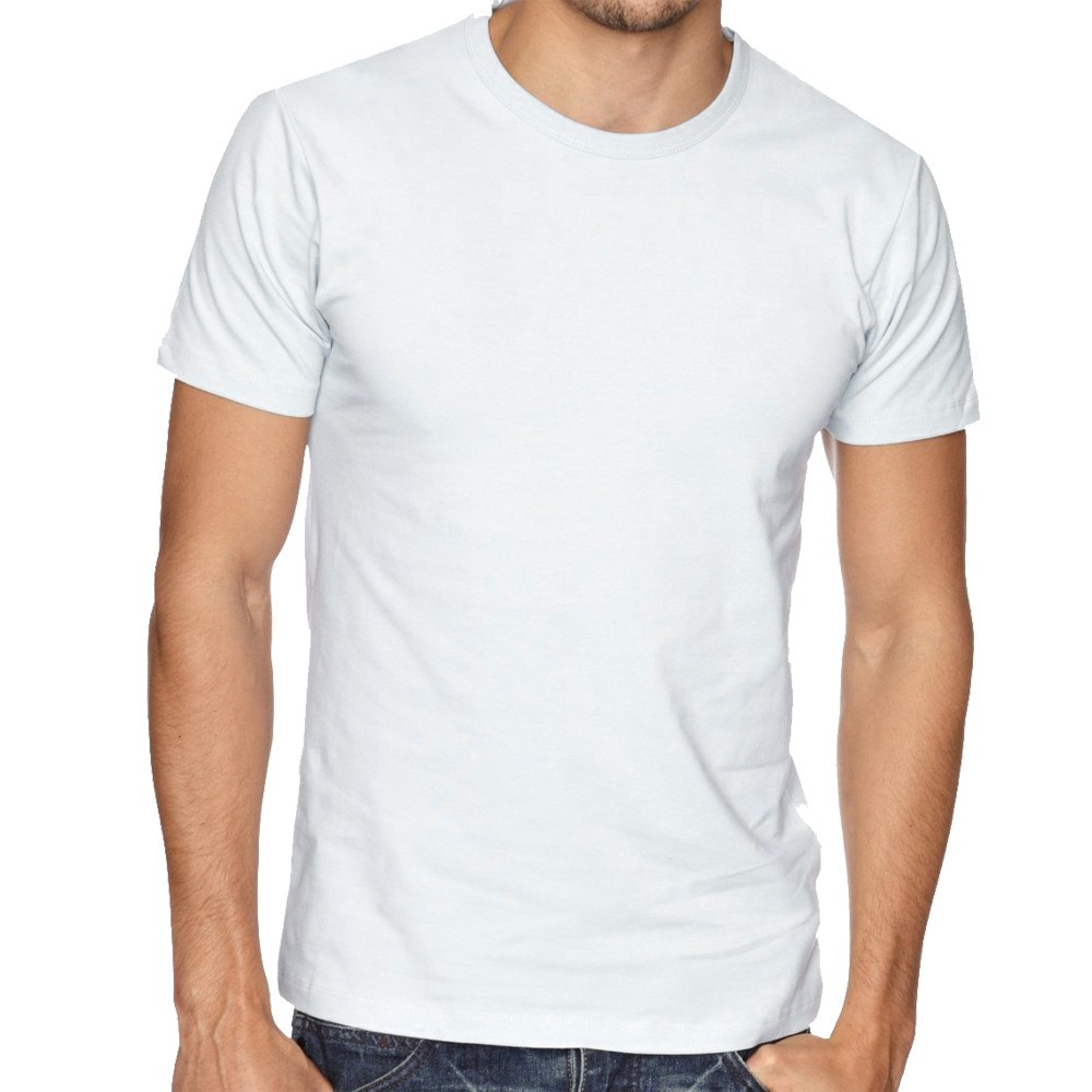 white plain crew neck t-shirt for men
