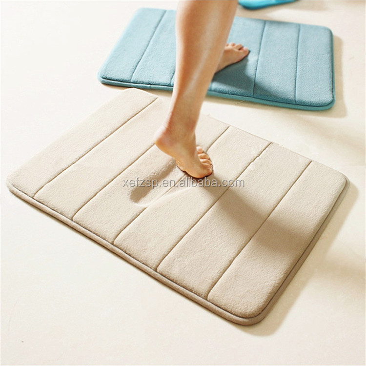 Bathroom anti slip bath mat memory foam u shape bath mat