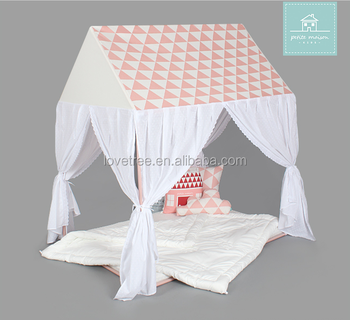 Ninghai Lovetree White With Pink Grid Printing Fabric Kids ...