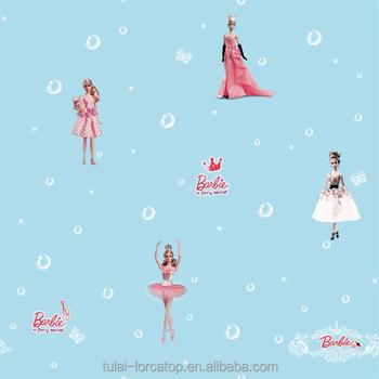 Leuke Barbie Patroon Laatste Geweven Behang Ontwerpen Voor Meisjes ...
