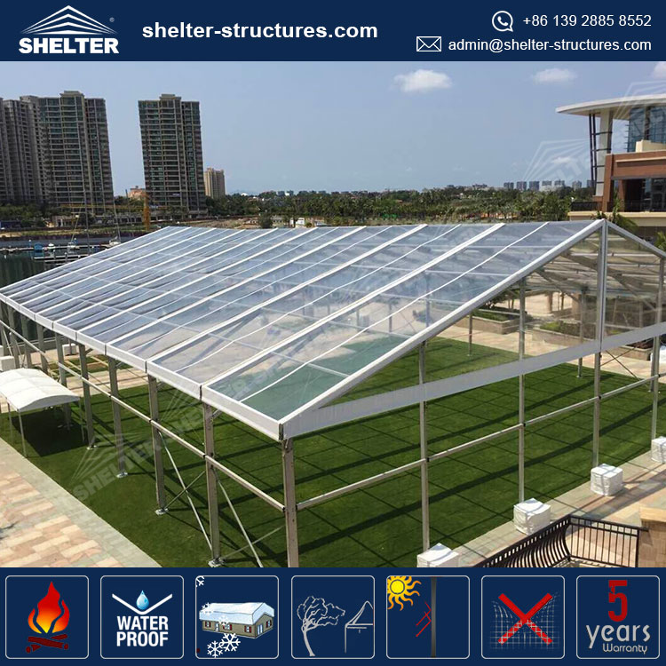 Transparent marquee big outdoor clear party event tent in guangzhou