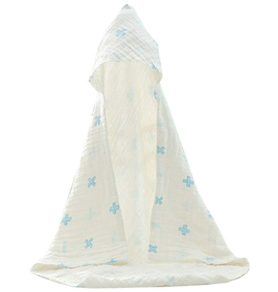 Blancho Bedding Baby Soft Cotton Breathable Bath Towel Kids Bathcloth Cloak Bathrobe 0-5 Years(White-1)