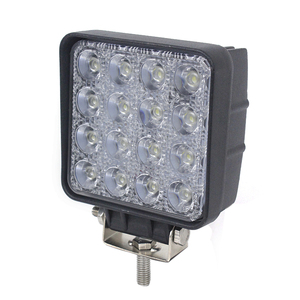 square 48w led offroad work light for car tractor lamp