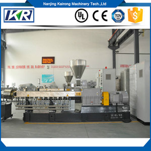 Conical Double Screw PVC Water Ring Pelletizer/Twin screw biodegradable PS+starch plastic granule making machine