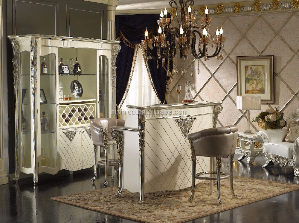 A Fine Louis Xvi Style Wooden Tv Cabinet,Silver And White Luxury ...