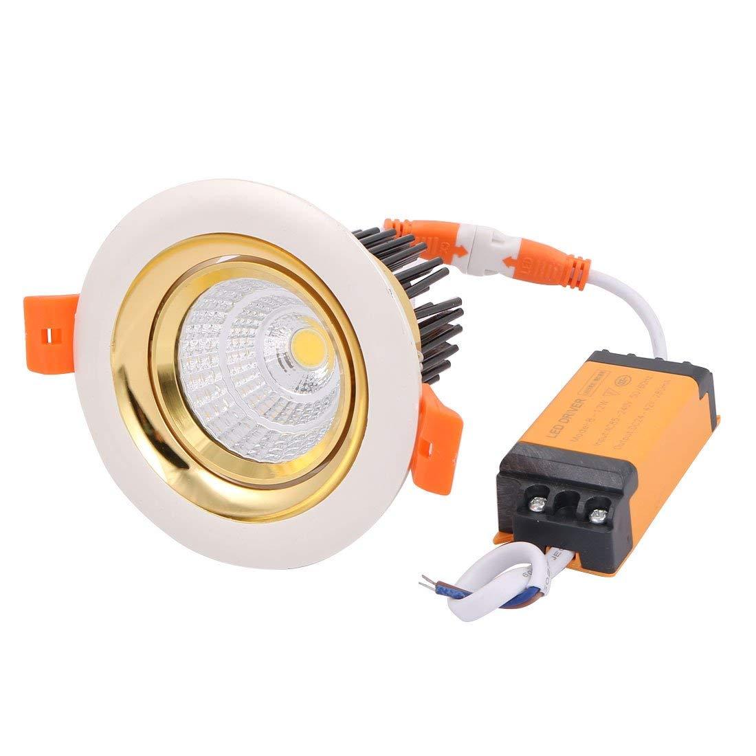 uxcell AC85-240V 10W COB LED Ceiling Spotlight Lighting Lamp Downlight Recessed w Driver 4000K