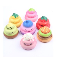 2019 Newest Style Multi Color Emoji pu Squishy Poop Shape Kawaii Kawaii Slow Rising Squishy Toy