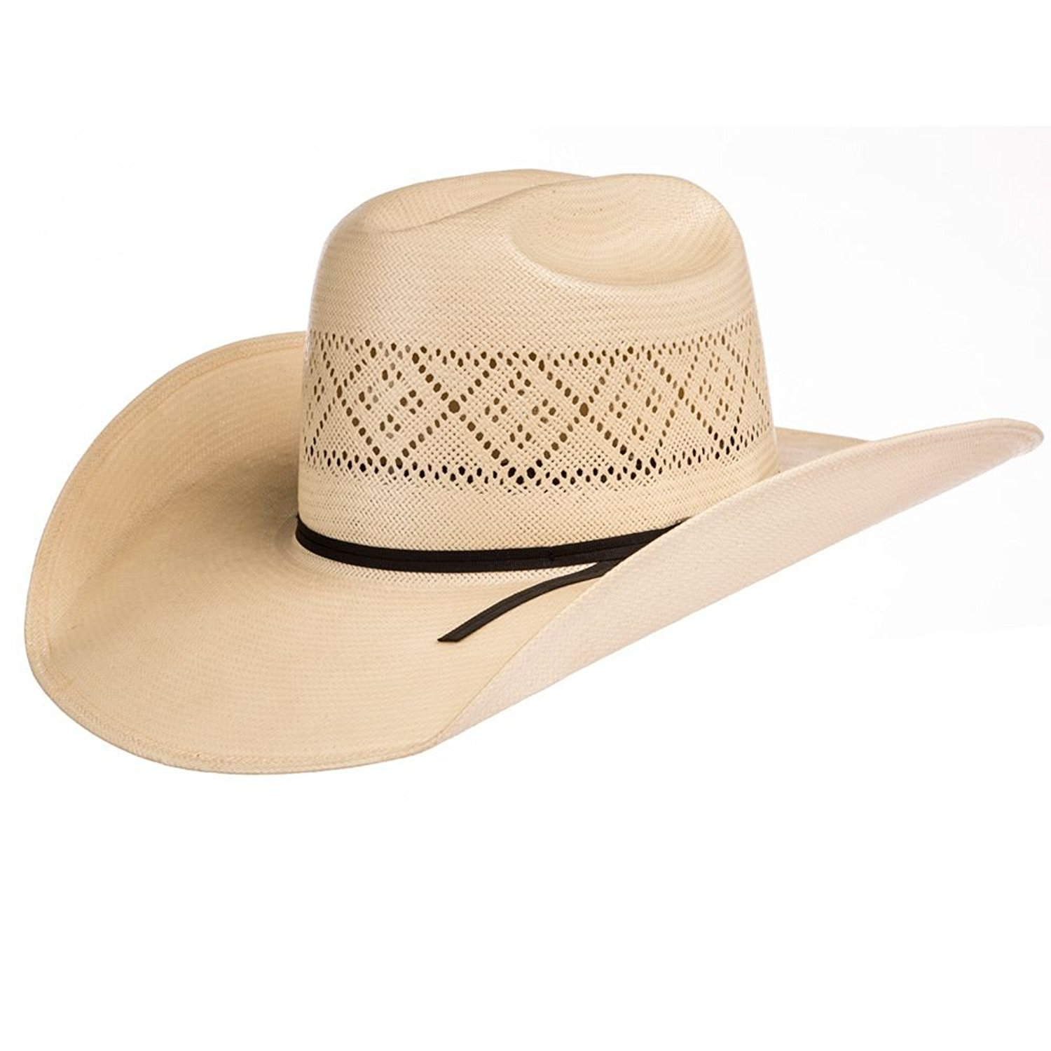 71d976dfcd26c2 Get Quotations · NRS American Hat Company Mens Tuf Cooper 20 Star Ivory  Open Crown Solid Weave 4 1
