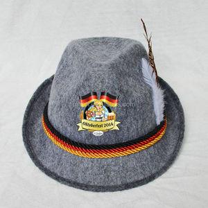 3ae562116 MHH130 Party Festival Custom Swiss German Oktoberfest Bavarian Alpine felt  hat, custom printed hats