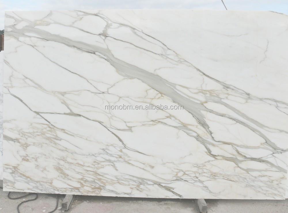 Italy Calacatta Marble Composite White Marble Floor Design