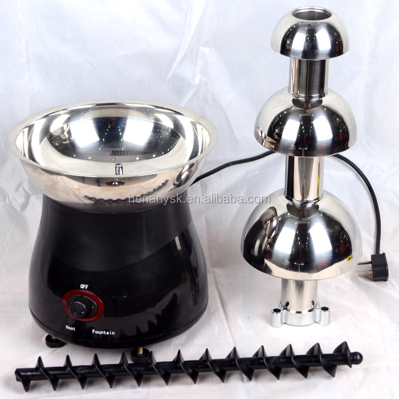 3 Tier 6lb Large Home Chocolate Fuente Machine Fountain Waterfall Machine PP/ABS Electric Fondue Stainless Steel Party Cater