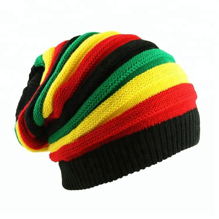 1 Knit Knitted Unisex Ladies Men Cap Winter Baggie Baggy Rasta Beanie Hat CHECK
