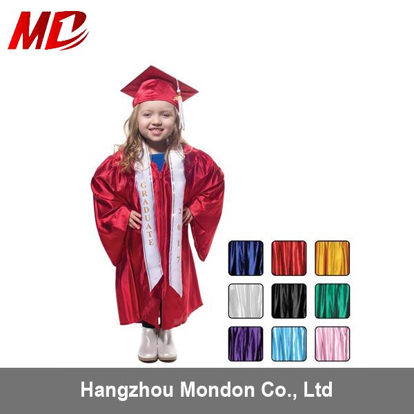 Low Price Shiny Children Graduation Gown,Kindergarten Graduation ...