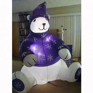 christmas polar bear inflatable animal decoration