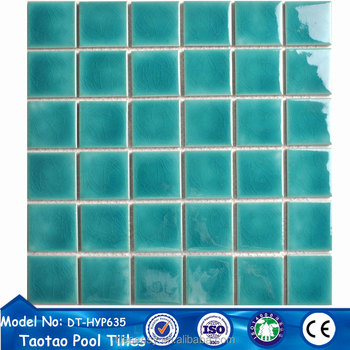 Hot Double Ice Le Green Ceramic Mosaic Pool Tiles