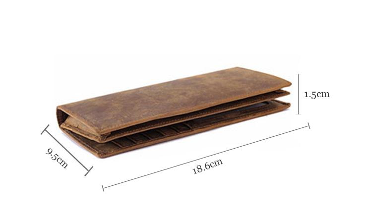 Durable simple and generous long oem coffee colors men genuine purses leather wallet