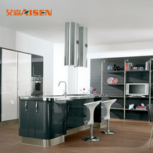 Modern Popular Design Combination Modular Quartz Countertop High Glossy Lacquer Kitchen Cabinet With Lift-up Doors