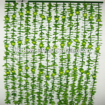 Green Curtains apple green curtains : Apple Green Hanging Green Leaf X'mas Marry Curtain - Buy Green ...