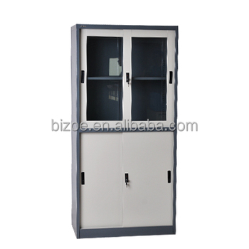 New design school furniture metal library storage cupboard steel filing cabinet with sliding glass door  sc 1 th 225 & New Design School Furniture Metal Library Storage Cupboard Steel ...