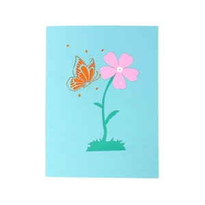 Beautiful Butterfly Pop Up Card with extra note card & Envelop