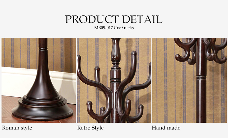 Living Room Furniture American Neo classical High quality wooden furniture wooden standing coat rack for sale