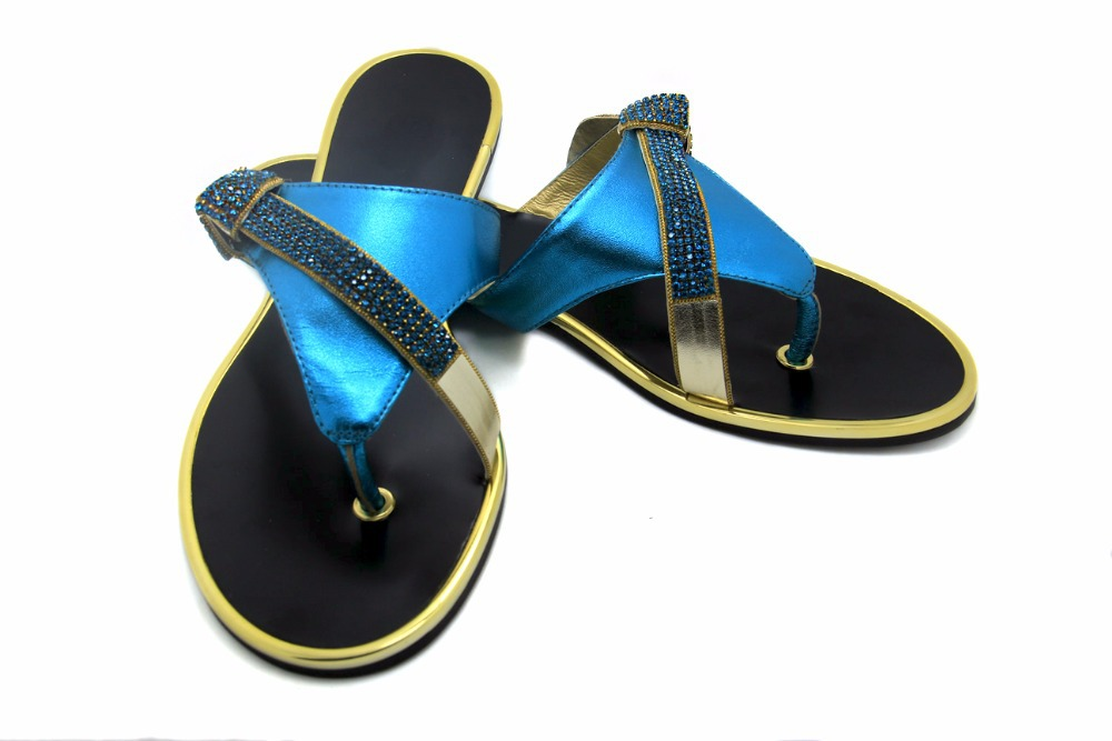 bb6ab89b8 Buy Rhinestone Sandals 2015 New Sexy Blue Cute Summer Bow Bling Bling  Sandals Flat Platform Flip Flops Women Genuine Leather Sandals in Cheap  Price on ...