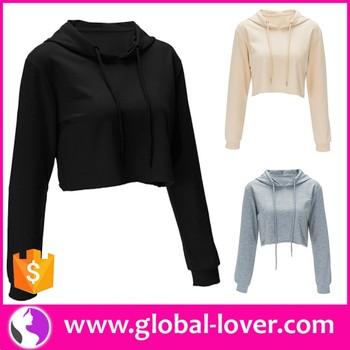 07bb0df4d5 Wholesale Womens Long Sleeve Plain Crop Top Cropped Sweatshirts Hoodies -  Buy Womens Crop Top,Long Sleeve Crop Top,Cropped Sweatshirts Product on ...