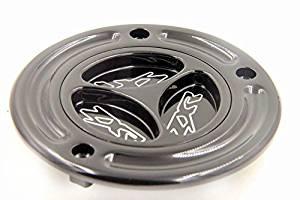 XKMT- Motorcycle Black Keyless Gas Cap Twist Off Aluminum Racing Fuel Tank Cap For Kawasaki ZX-14R/ ZZR1200 /ZRX1200R /Z1000 /ZX-10R /ZX-9R /ZX-6RR /ZX-6R